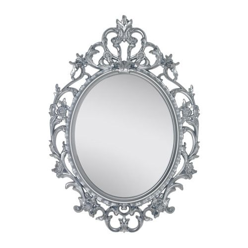 Ikea Spiegel ikea vikersund mirror oval white silver color high humidity