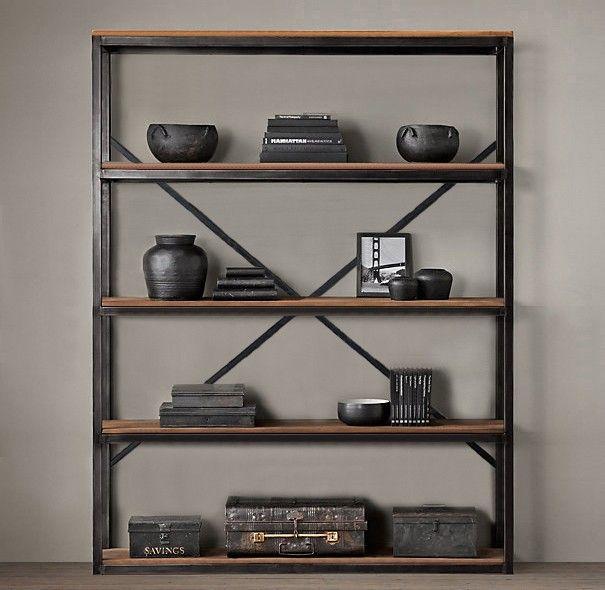 Estante book steel metal madeira industrial estantes - Estantes de metal ...