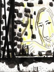 Cornelius Quabeck - Any Kind of Cruelty - ink and watercolor on paper