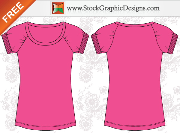 Women s Basic Free T-shirt Templates Vector Free Vector Fashion Design  Template bba14f9a30