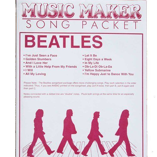Beatles accessory music packet for the Music Maker by European Epressions. $8.99. I WILL IN MY LIFE OB-LA-DI, OB-LA-DA YELLOW SUBMARINE I'M HAPPY JUST TO DANCE WITH YOU EIGHT DAYS A WEEK LET IT BE ALL MY LOVING WITH A LITTLE HELP FROM MY FRIENDS I'VE JUST SEEN A FACE GOLDEN SLUMBERS AND I LOVE HER  PLEASE NOTE:  Shipping and packaging costs go down when you order more than one item.  In this case, a refund check will be sent to you to reflect those savings.  The check wi...