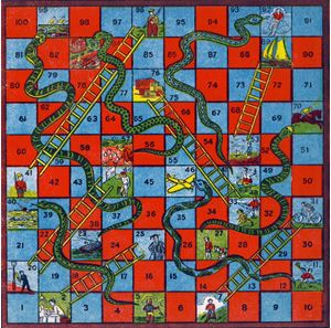 Snakes and Ladders Board Game | Source: The Virtual Museum of Childhood