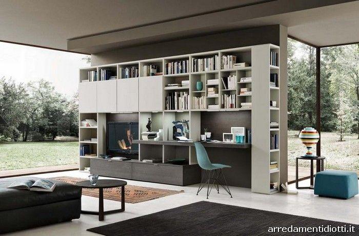 Arredamento Libreria ~ Libreria modo componibile diotti a&f arredamenti furniture