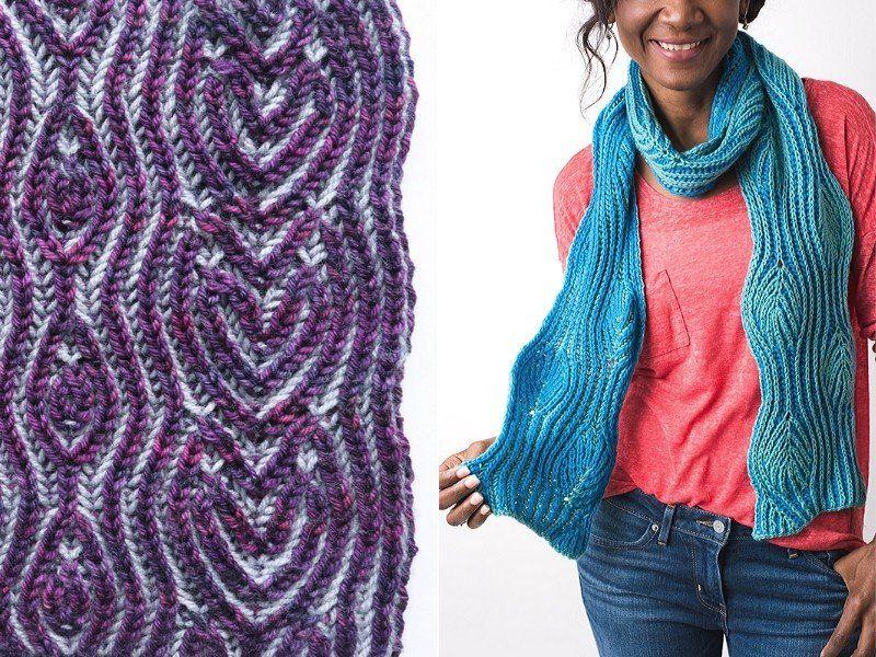 Brioche Knitting Scarves Free Patterns | Knitting patterns ...