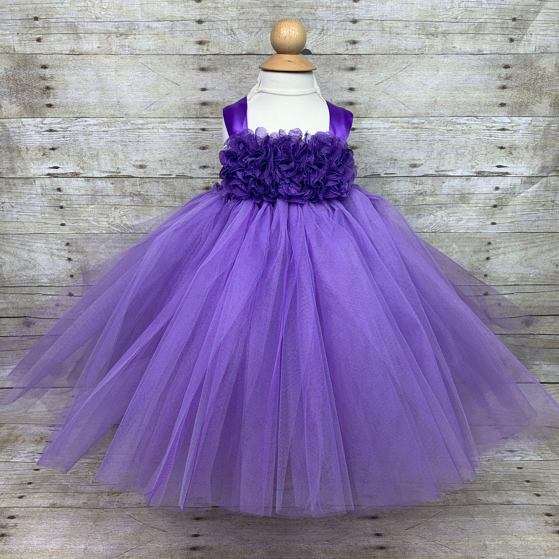 Purple Tutu Dress Flower Headband Set 12 24 Mos Baby Etsy Flower Girl Dresses Tutu Tutu Dress Purple Tutu Dress [ 3000 x 3000 Pixel ]