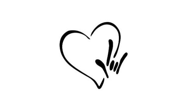 Download I love you heart sign language file, svg, ai, dxf, eps ...