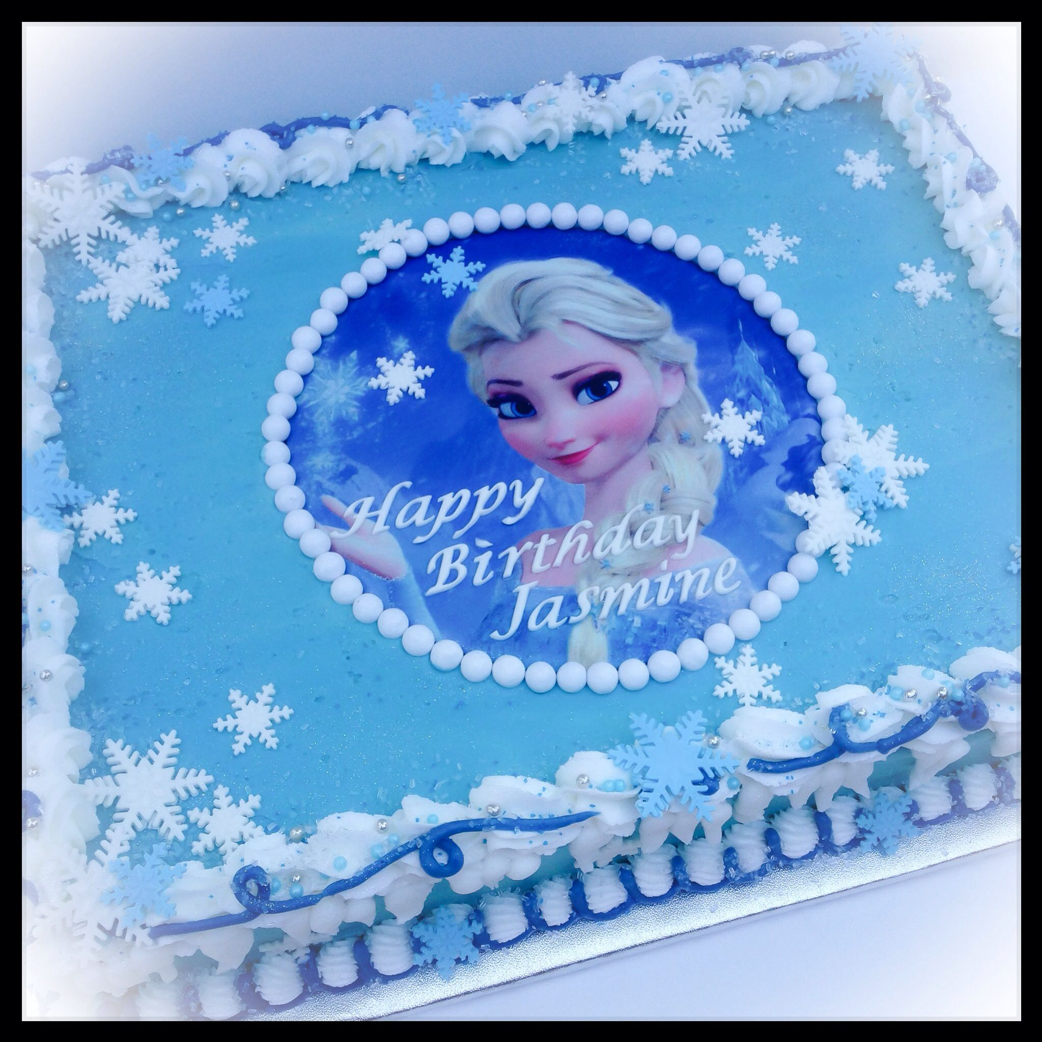 Elsa Frozen Sheet Cake With Images Frozen Birthday Cake
