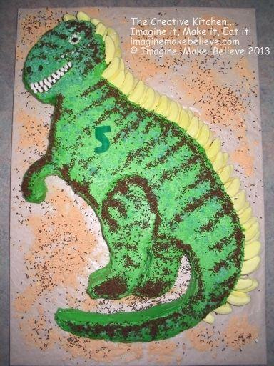 2D Basic Shaped Cakes Bananas Cake and Dinosaur cake
