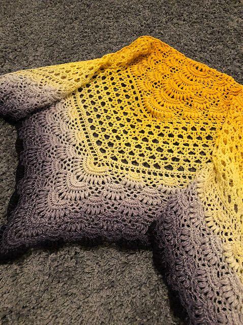 Mimosa Shawl / Mimosa Huivi - free crochet pattern in English and ...
