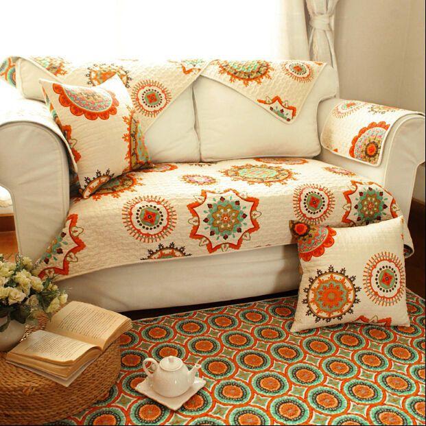 7 Aud 1 Pc Shabby Sun Flower Sofa Couch Slip Cover Mat Throw Rug Floor Runner Ebay Home Garden