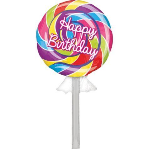 Foil Lollipop Happy Birthday Balloon 42in