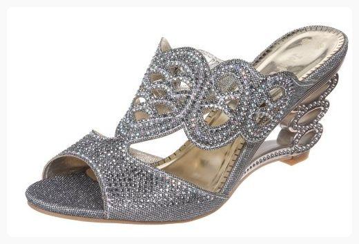 Women/'s Open Toe Spike Slingback Sports Sandals Rhinestone Flat Platform Shoes