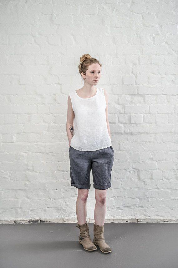 black linen shorts women shorts by notperfectlinen on. Black Bedroom Furniture Sets. Home Design Ideas