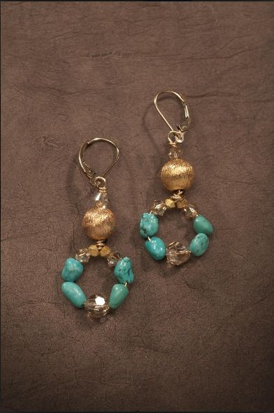 Jewelry ~ Earrings Turquoise- protective, grounding, confidence