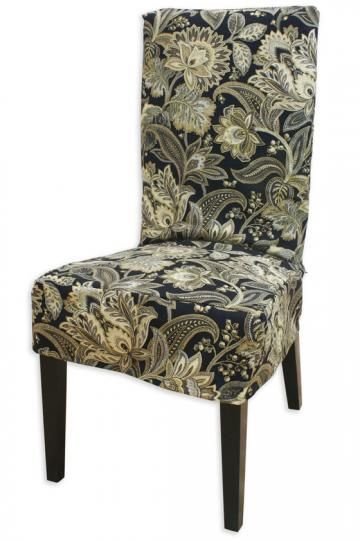 Black Paisley Slipcovered Chair   Slipcovers for chairs ...