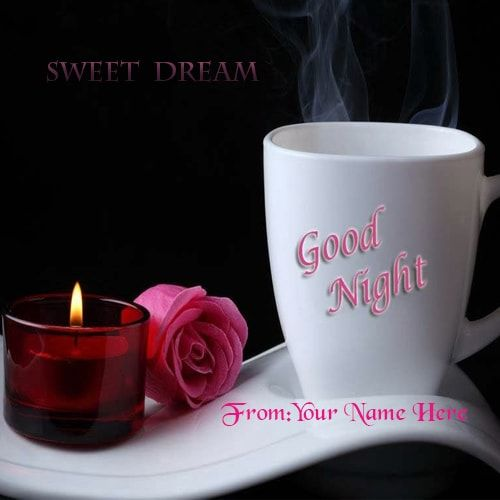 Good Night Quotes Greetings Card Images With Name Edit Good
