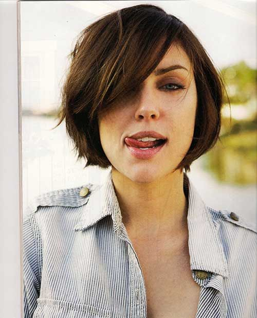 15 Best Bob Haircuts For Round Faces Bob Hairstyles 2015 Short