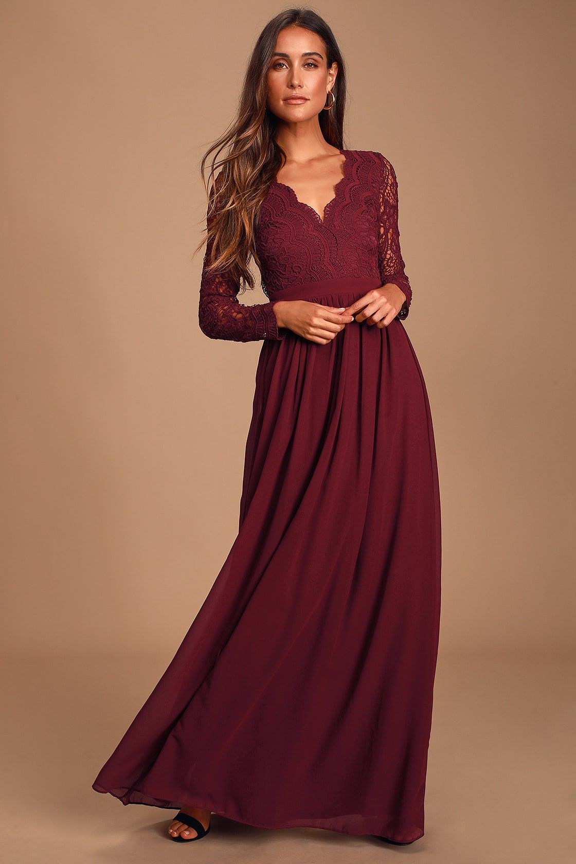 Awaken My Love Burgundy Long Sleeve Lace Maxi Dress Long Sleeve Lace Maxi Dress Long Sleeve Lace Bridesmaid Dresses Long Sleeve Bridesmaid Dress [ 1680 x 1120 Pixel ]