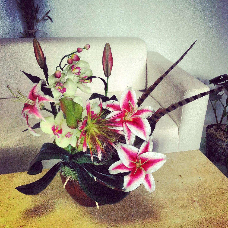 Stargazer lily silk flower arrangement in house silk florals stargazer lily silk flower arrangement mightylinksfo