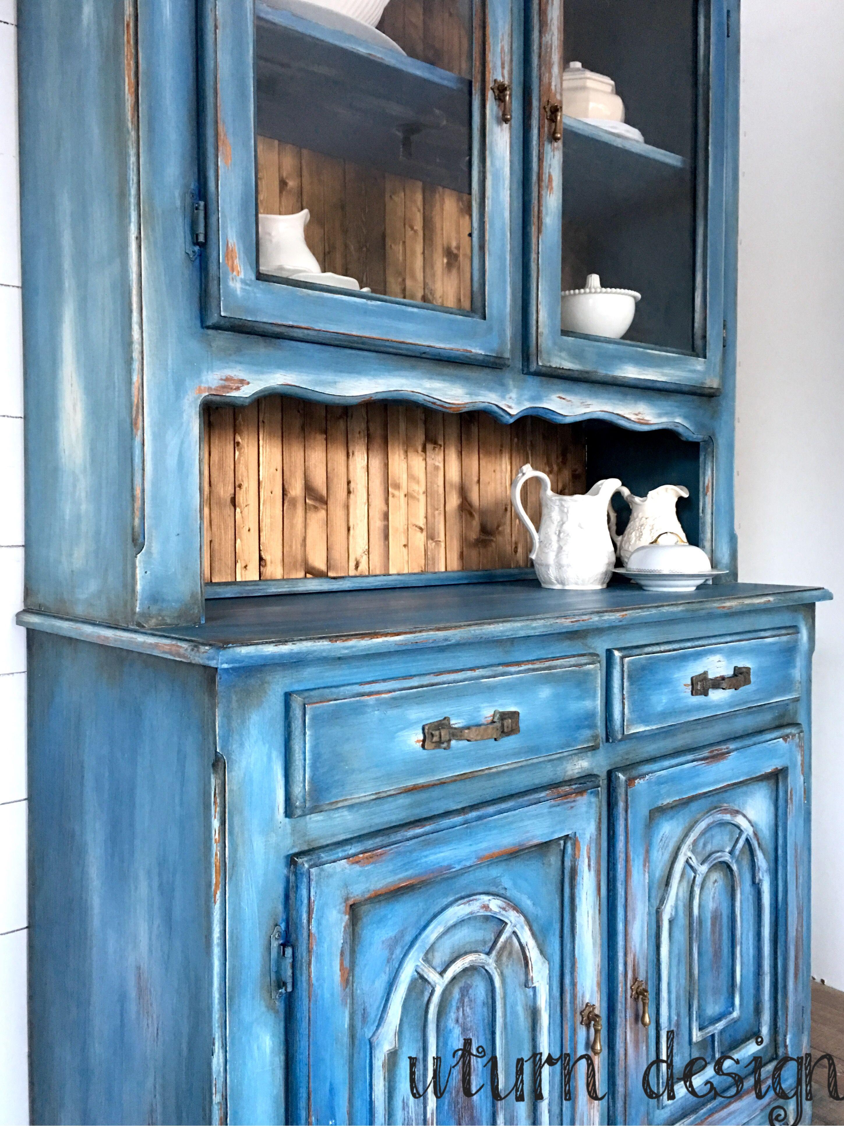 Farmhouse hutch By uturn design | UTurn design | Pinterest | Blue ...