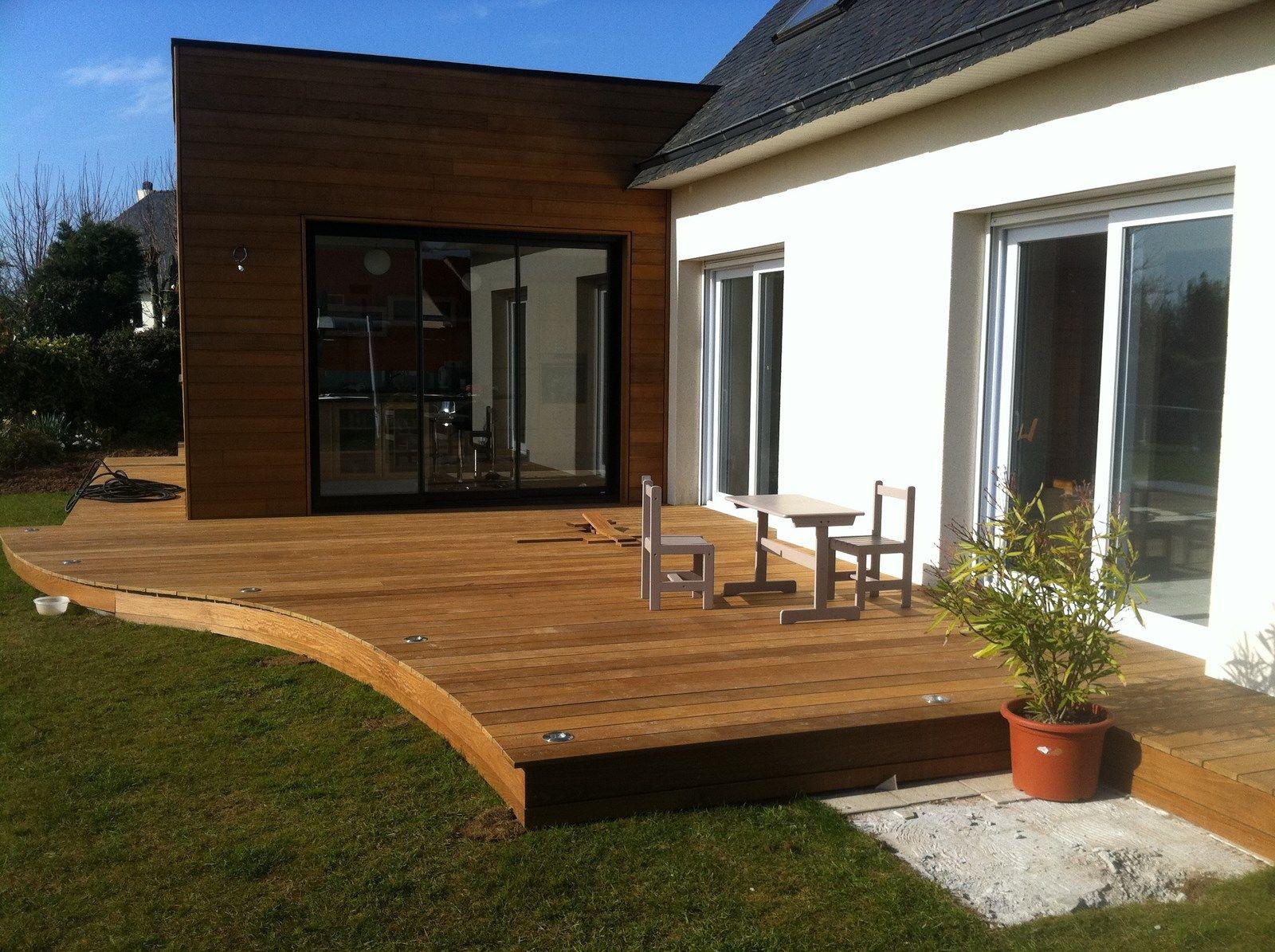 Terrasse bois terrazas valcones pinterest patios decking and porch - Pinterest terrasse ...