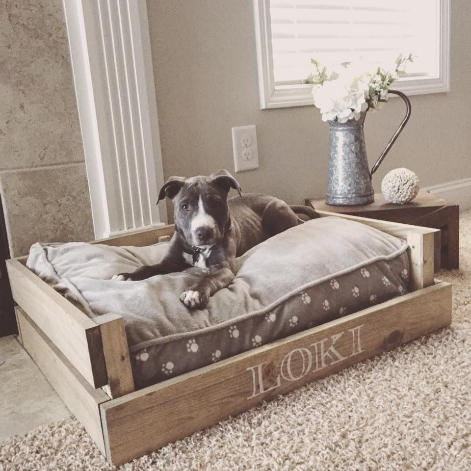 Farmhouse style dog bed tap the pin for the most for Build a dog bed
