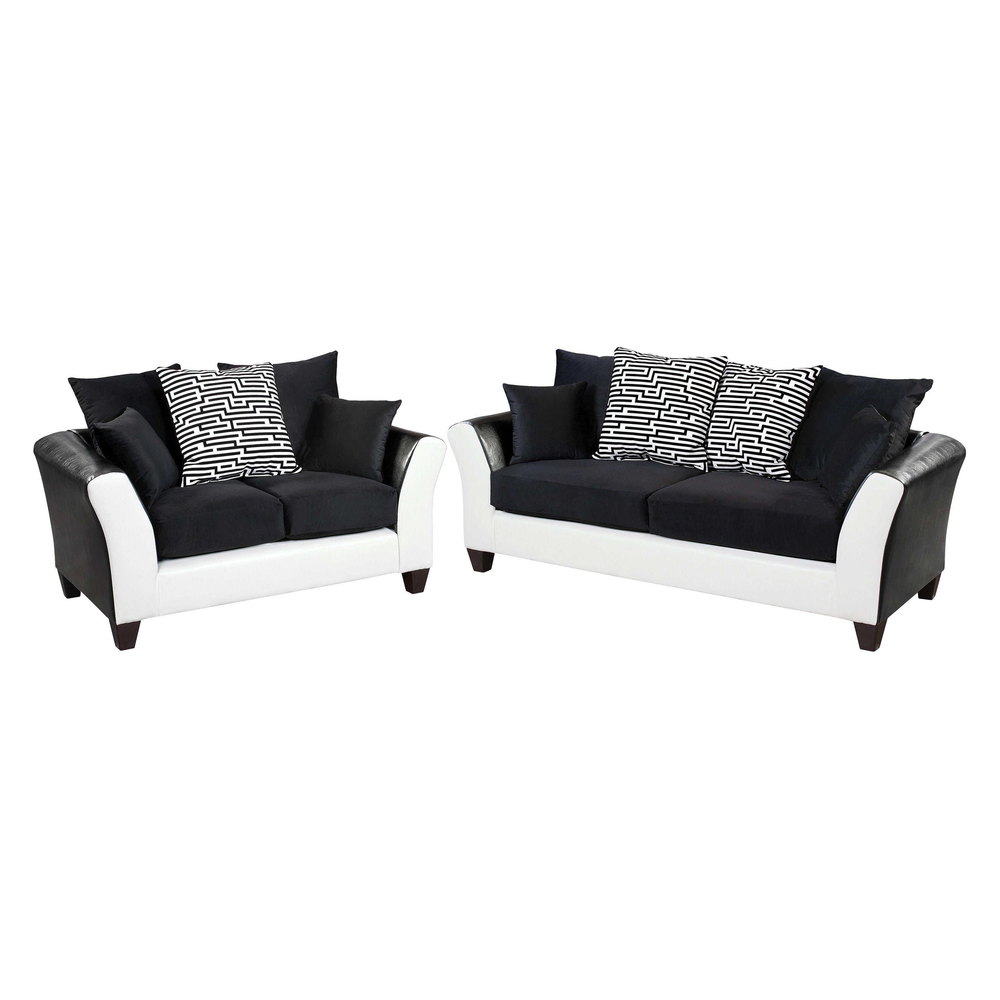 Flash furniture riverstone implosion velvet loveseat and sofa set
