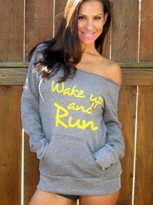 c64a23995c143 Wake Up and RUN Off the Shoulder Girly by FiredaughterClothing Start  Running