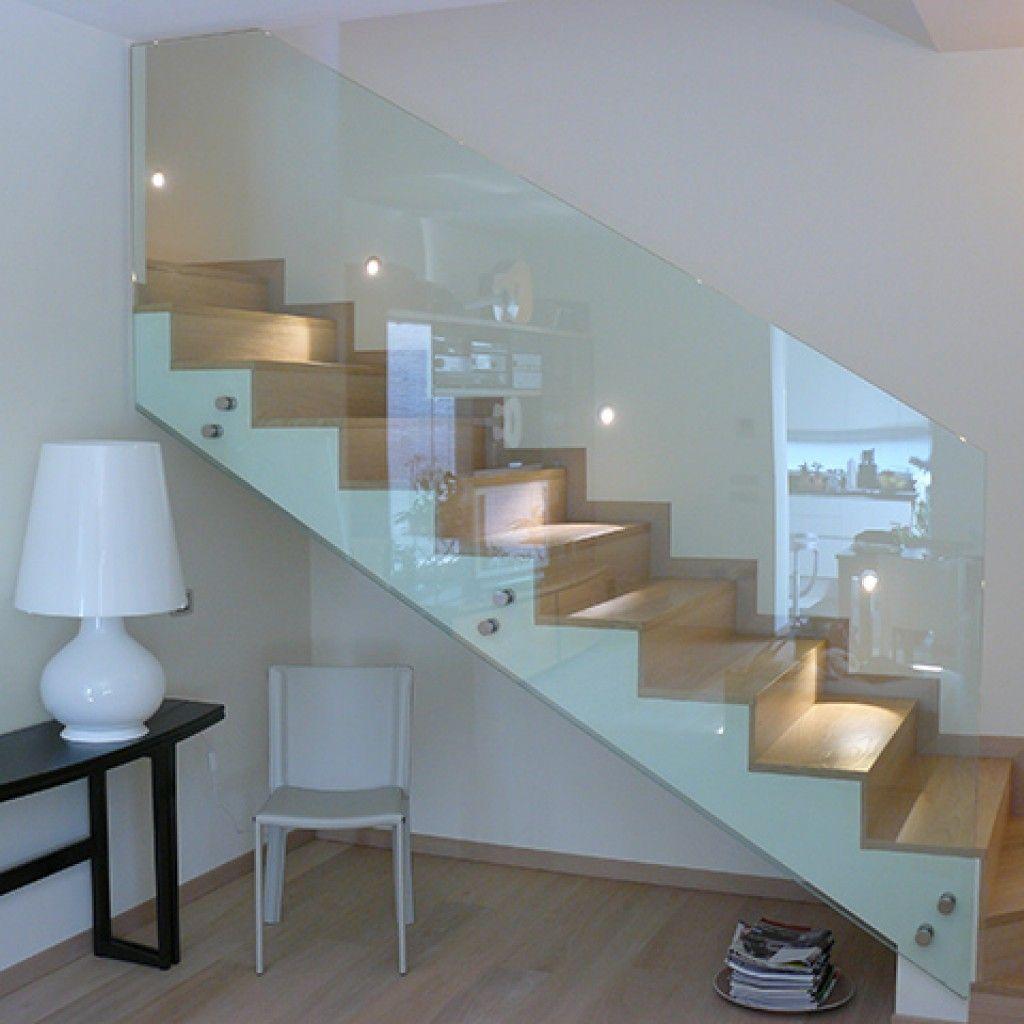Risultati immagini per parapetti scale in vetro scala scale - Parapetti in vetro per scale ...