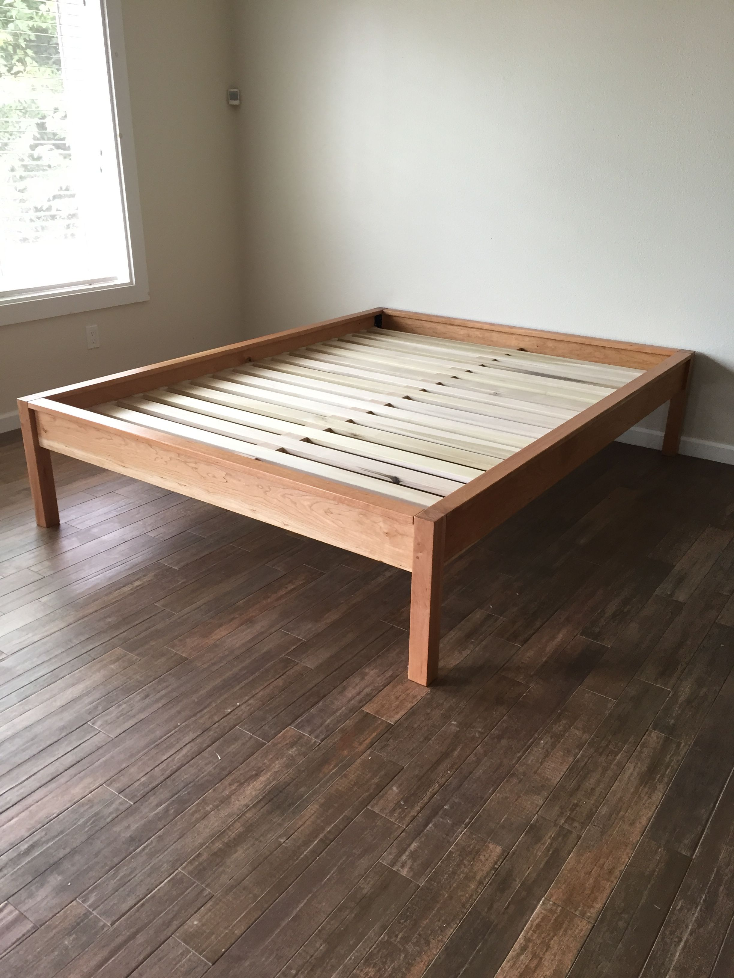 Platform Bed In Solid Cherry Twin Full Queen King Cal King