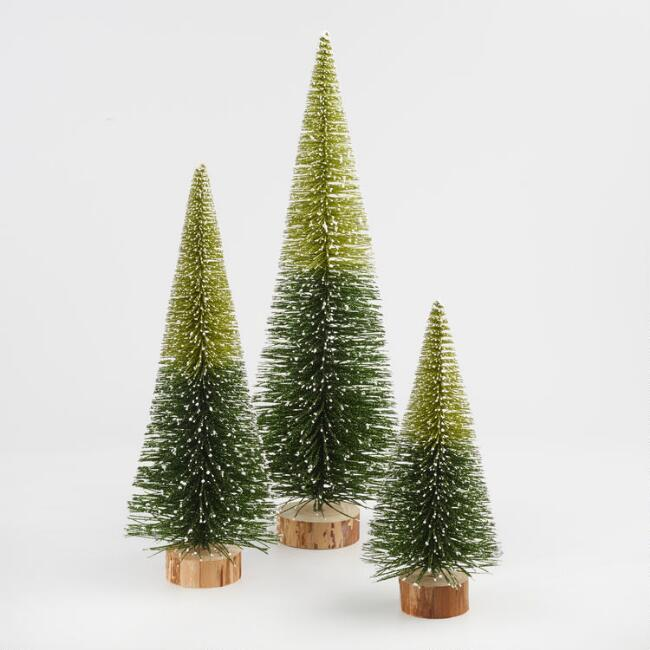 How To Make Bottle Brush Holiday Trees Happy Happy Nester Bottle Brush Christmas Trees Miniature Christmas Trees Rainbows Christmas