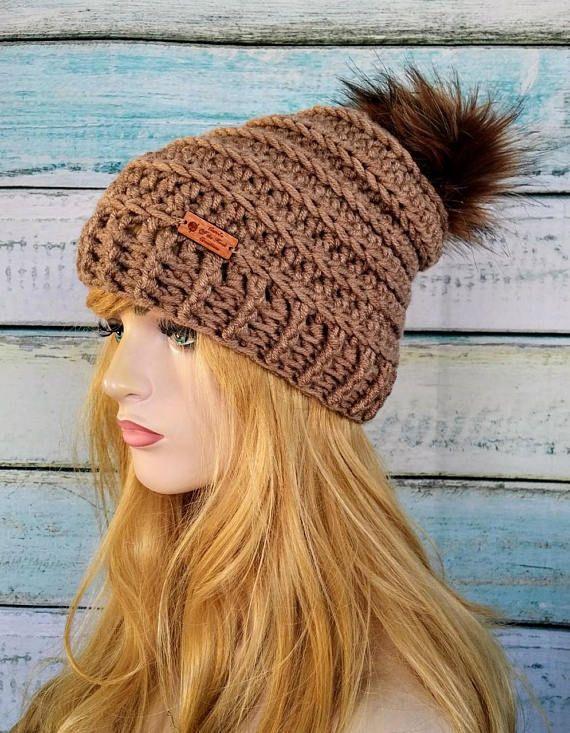 Crochet Hat Pattern, Crochet Slouchy Hat Pattern, Crochet Beanie ...
