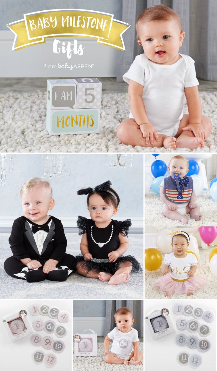 Baby Gifts For Each New Milestone Baby Aspen Keepsake Baby Gifts Baby Milestones