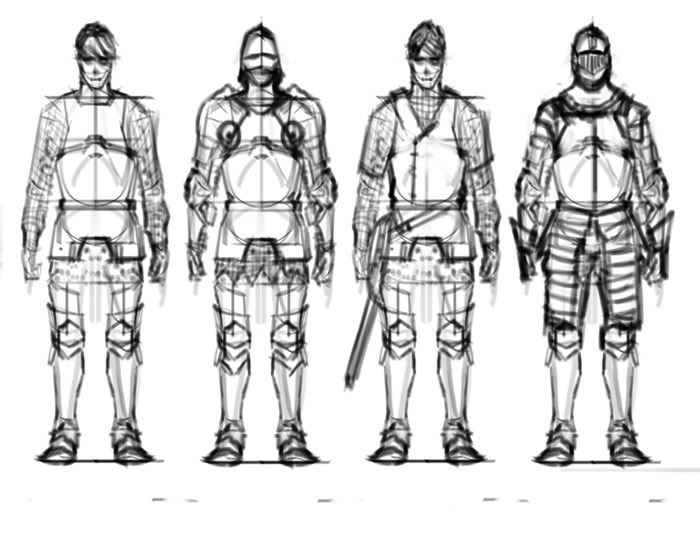 how to draw armor for beginners