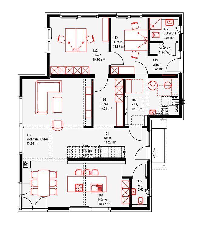 Grundriss eg okal fertighaus g nzburg einfamilienhaus for Fertighaus grundrisse einfamilienhaus