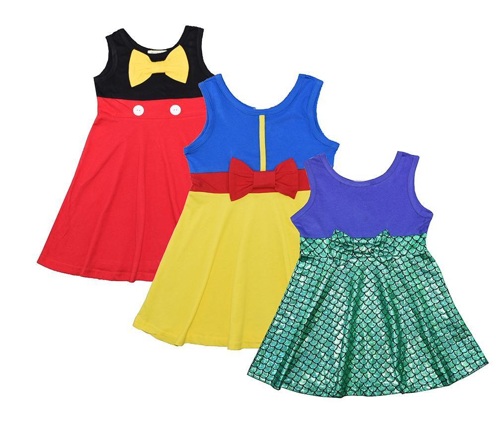 Baby Toddler Girl Dress Up Dresses Mermaid Minnie Mouse Snow White Disney Princesses Toddler Girl Dresses Kids Outfits Disney Dresses For Toddlers