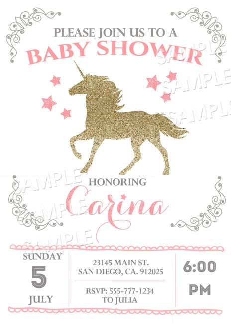 Vintage Unicorn Baby Shower Baby Shower Idea Pinterest