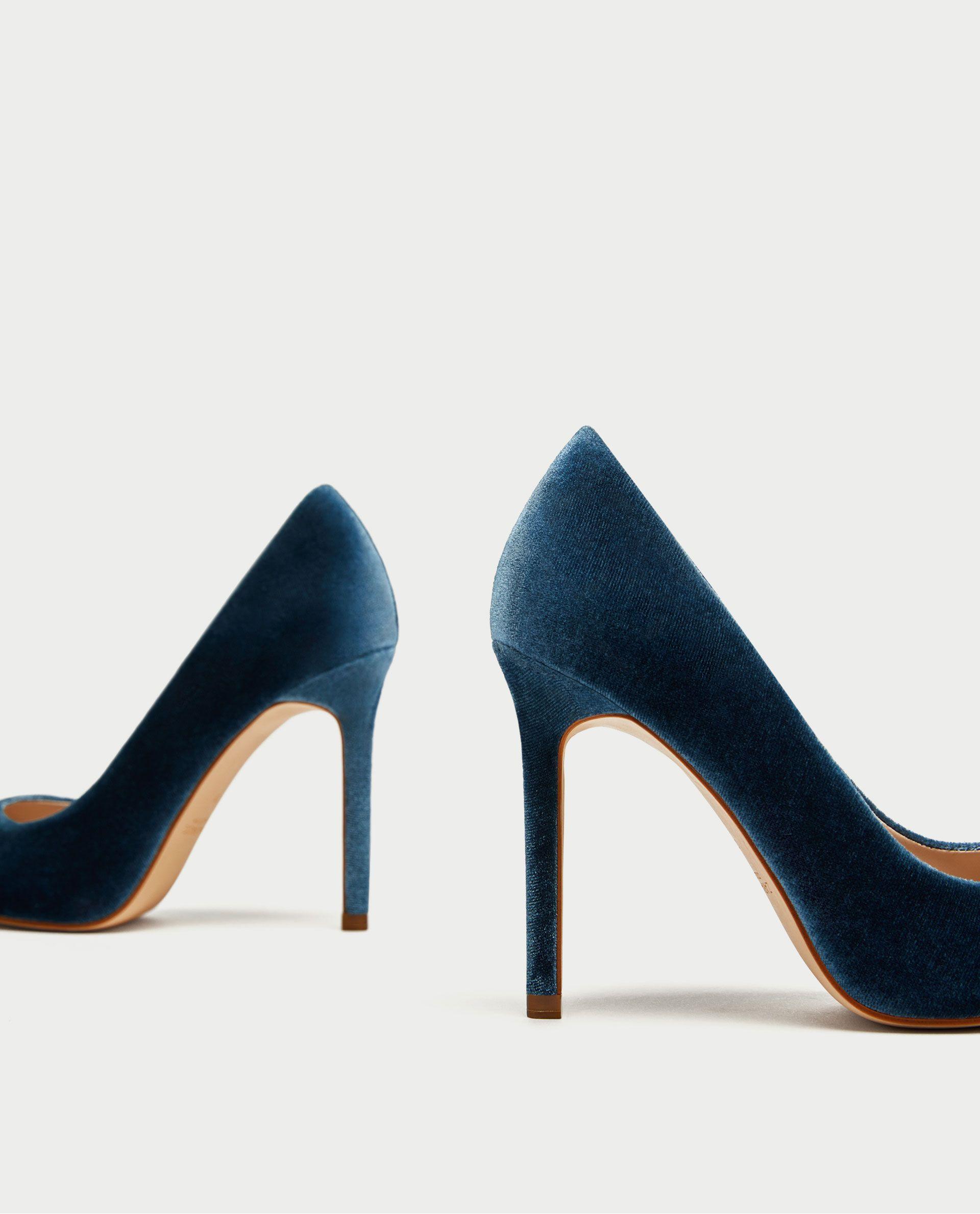 557da88bcb ZAPATO TACÓN TERCIOPELO   zapatos   Shoes, Shoes heels y Heels