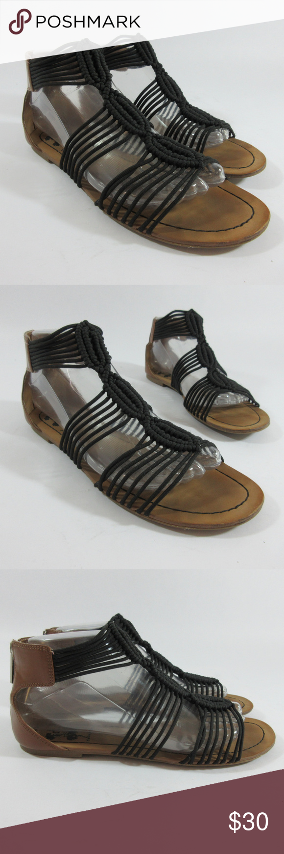4c684a50a9b6 Sam Edelman Circus Becca Zip Back Gladiator Sandal Sam Edelman Circus Becca  Black Zip Back Gladiator Sandals Women s Size 8 M Pre-owned  Very good  condition ...