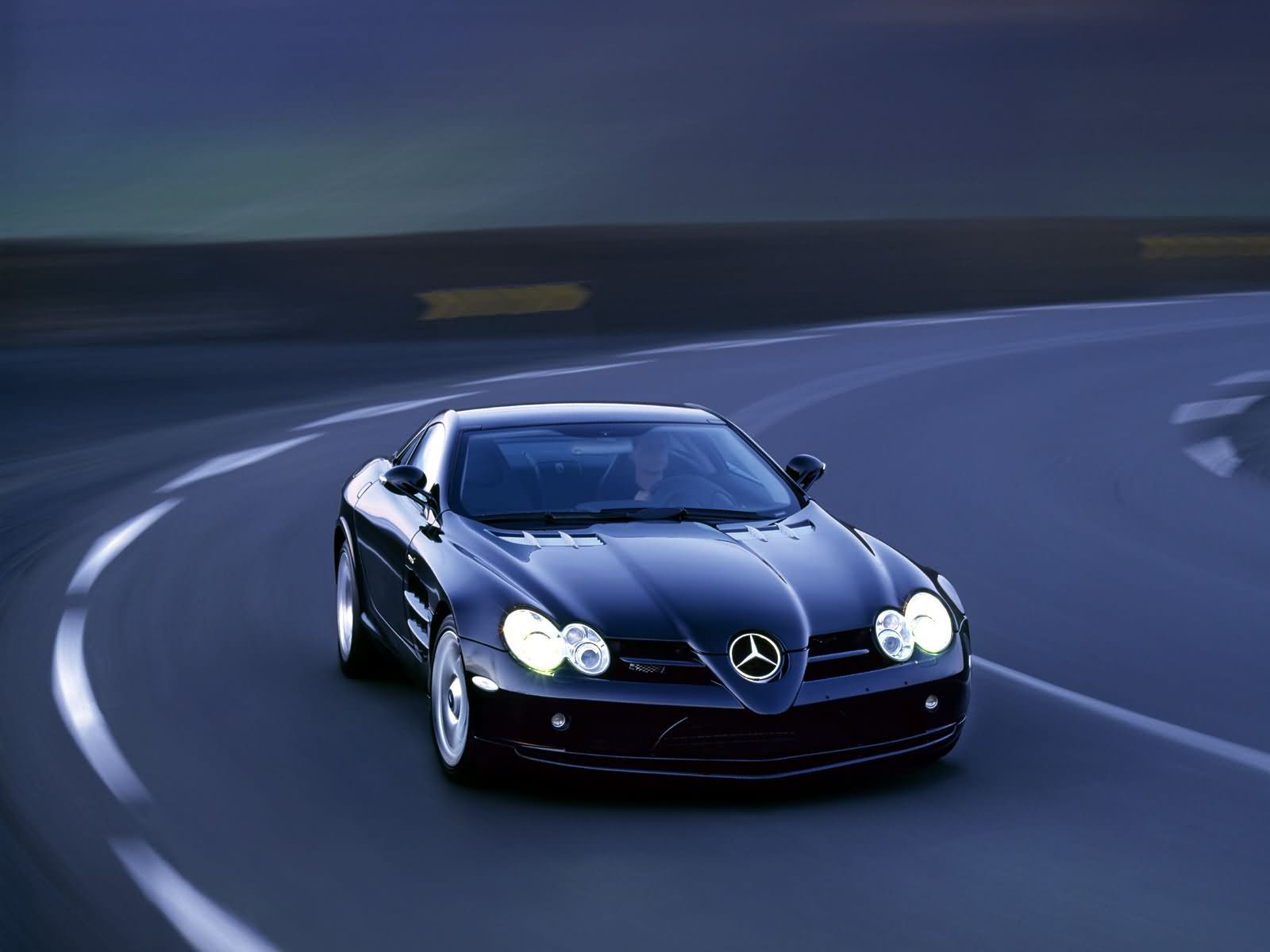 Car wallpaper for mercedes benz sports car onthe road for What is the cheapest mercedes benz