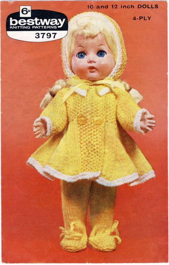 Bestway 3797 Knitting Pattern for 10 & 12\