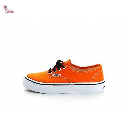 85b328b9f90922 Vans - Basket - Enfant - Authentic Off The Wall - Persimmon Orange - True  White
