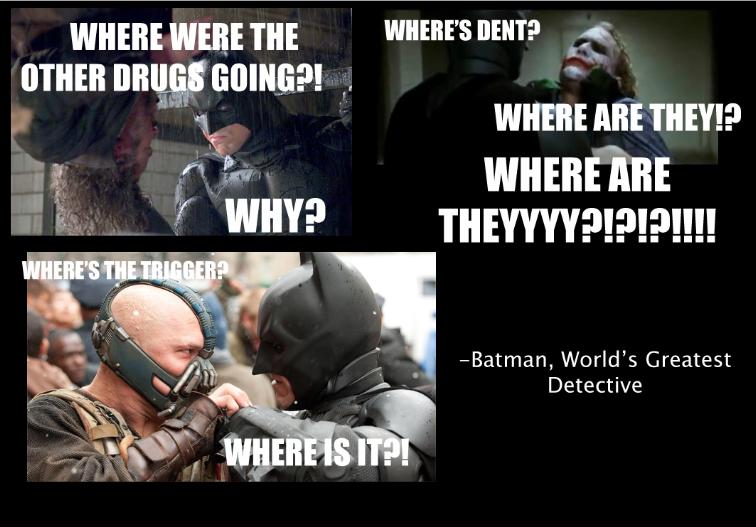 Batman's delicate  detective work