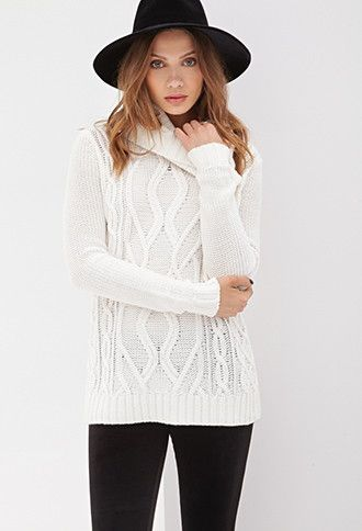 Cowl Neck Fisherman Sweater | Forever 21 - 2055880077 | красивые ...