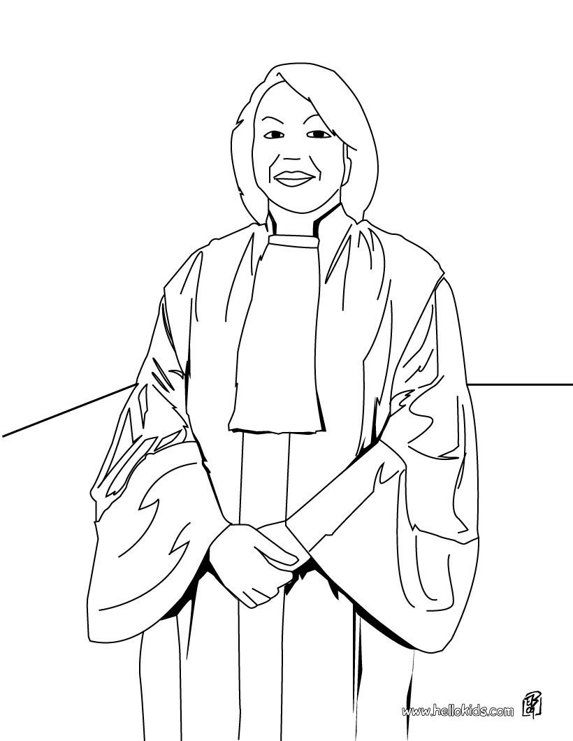 Judge Coloring Page To Offer You Nice Lawyer Coloring Pages To