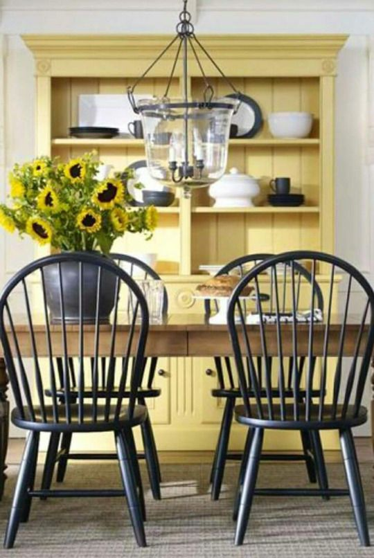 Like The Look Of Light Wood Table Dark Chairs And Bright Color Classy Narrow Dining Room Hutch Inspiration