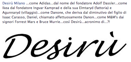 What is the meaning of Desirù? ...yet mystery ...