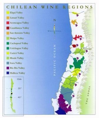 Chile Wine Region Google Search Chile Pinterest - Chile regions map
