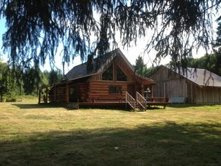 Beautiful+Log+Home+on+edge+of+South+Fork+River+in+Raymond+++Vacation Rental  In Long Beach Peninsula From