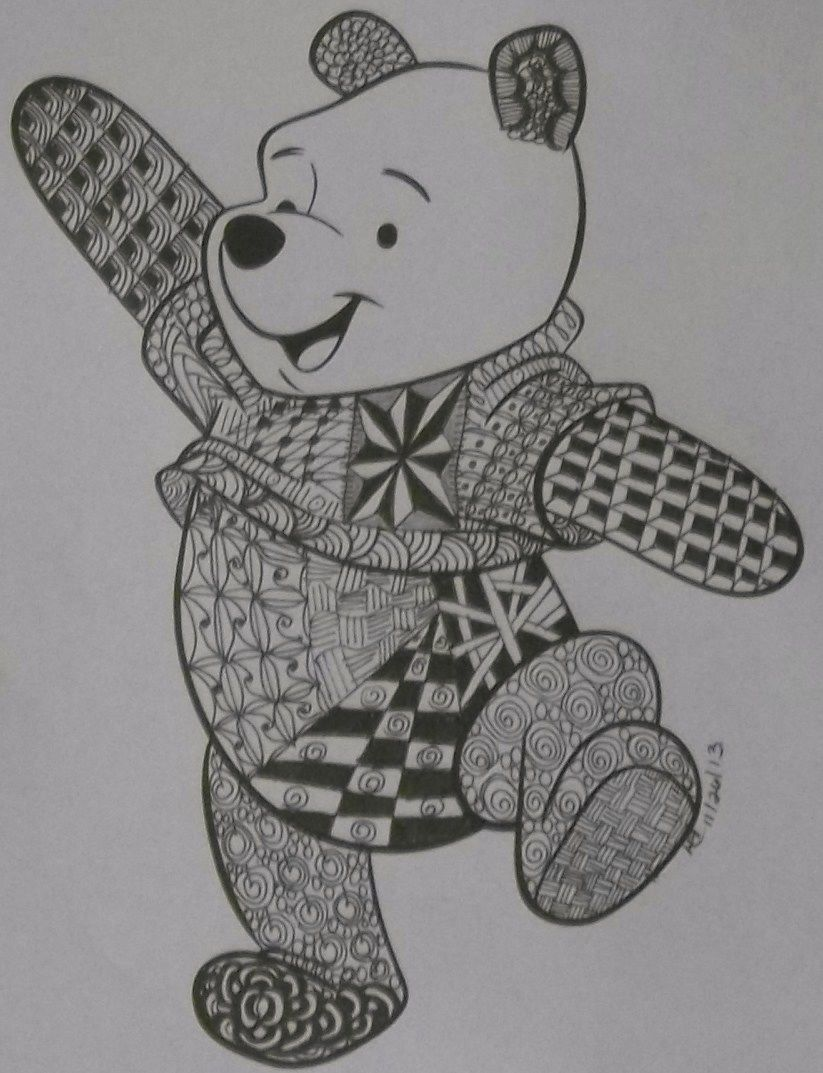 Another design I found online; a printable Winnie the Pooh. I